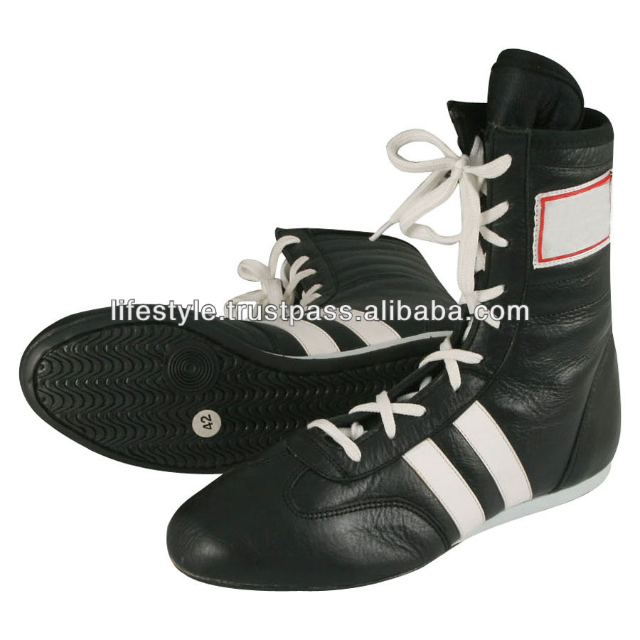 high top boxing shoes custom color wrestling shoes genuine leather boxing shoes