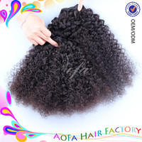 Most popular products afro kinky curly 100% brazilian hair