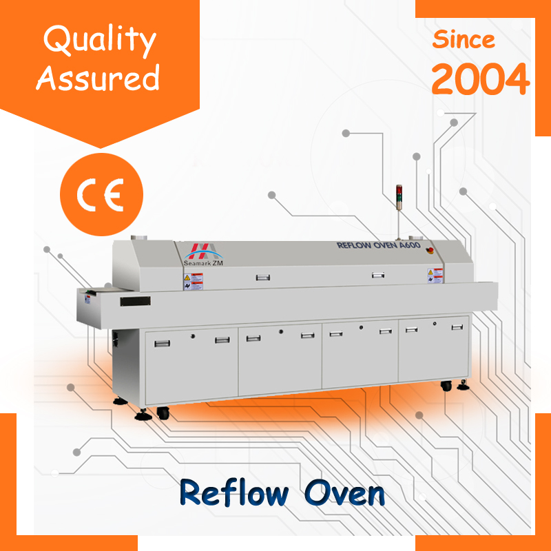 smt led reflow soldering oven machine A800 or A600 with PLC controller