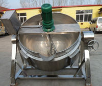 tilting-type vertical electric 500 liter stainless steel electric industrial steam cooking pot