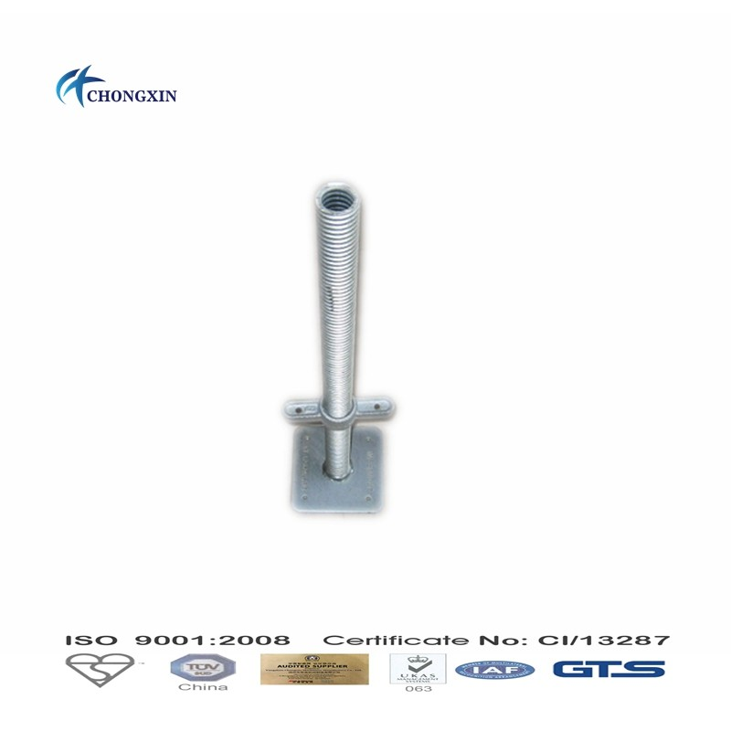 4T Zinc Plated/HDG Adjustable base jack/Scaffold System