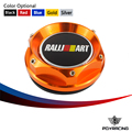 PQY RACING-OIL FILTER CAP For MITSUBISHI RALLIART BILLET ENGINE OIL CAP NEW GOLD/BLACK/SILVER/RED PQY6315