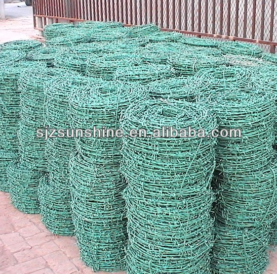 small roll pvc coated barbed wire/barbed tie wire manufacturer