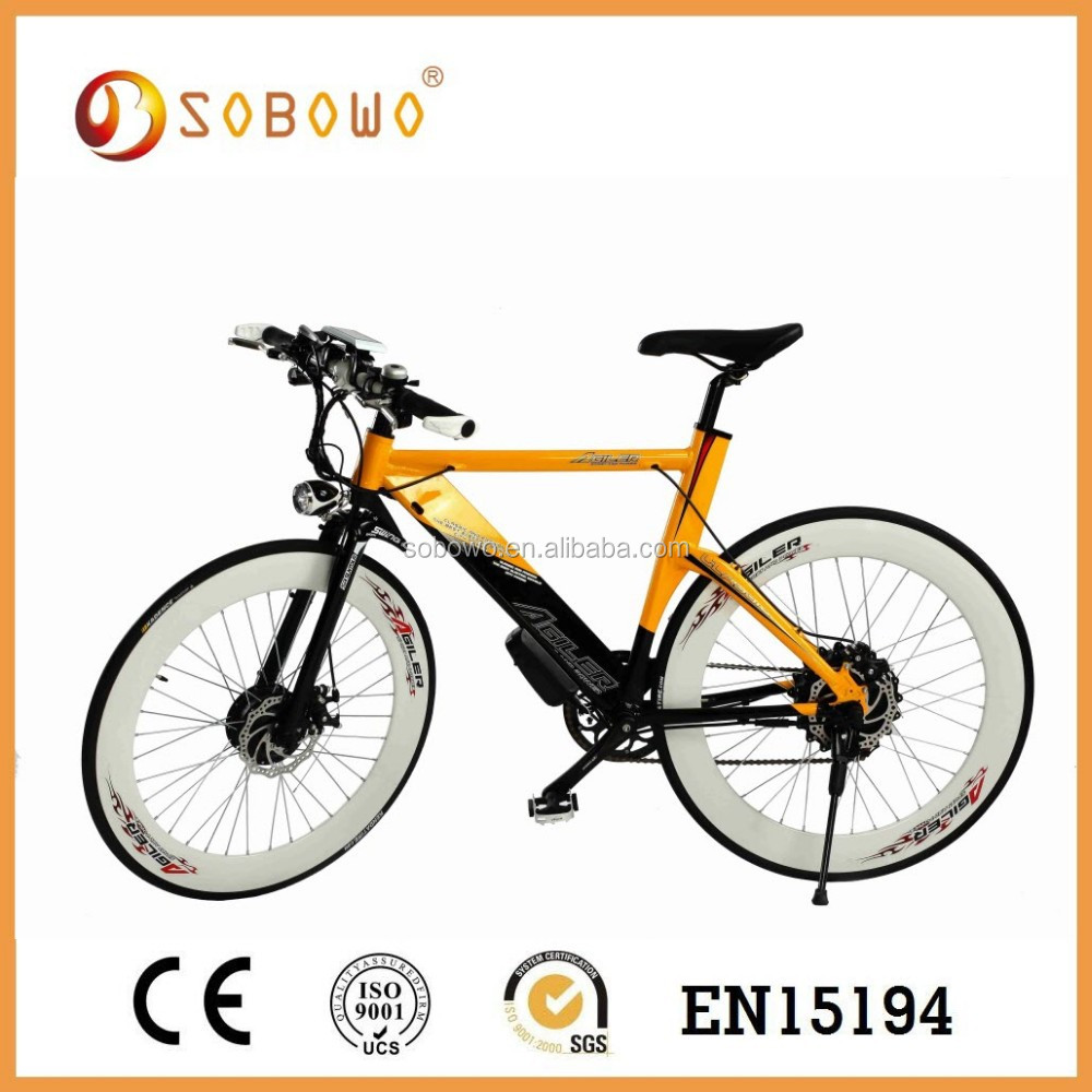 SOBOWO Eco-friendly 250w brushless motor mountain bike trails CE approval