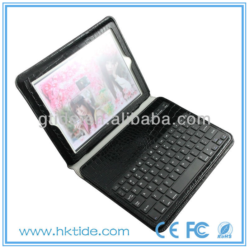 2013 Hot Selling bluetooth for ipod case leather keyboard
