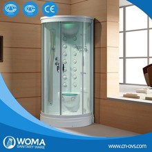 One person mini size steam shower bath room and infrared sauna