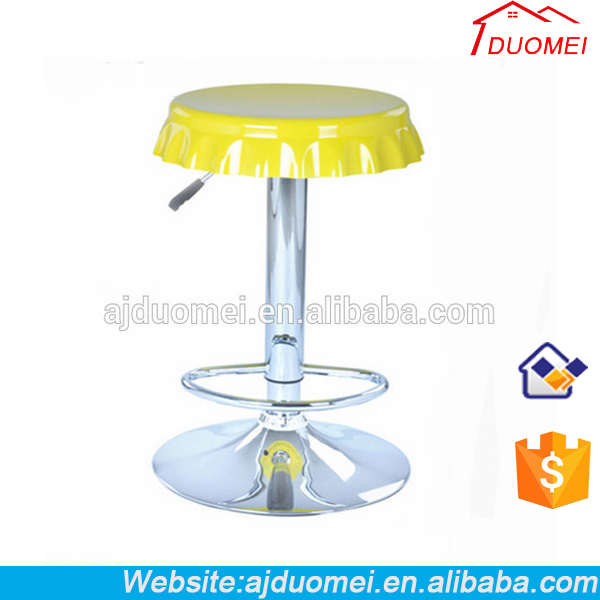Newstyle Swivel ABS Plastic Bar Stool Chair With Base Rolling And Beer Cap Cover