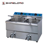 Good Quality Industrial (Ce) 1-Tank 1-Basket Industrial Deep Fish And Chips Fryers