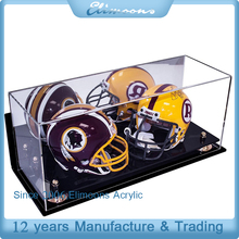 Large Acrylic Heltem Display Case /Custom Double Football Helmet Display Case with mirror and base