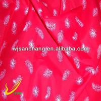 100%poly red series printed chiffon poly chiffon fabric