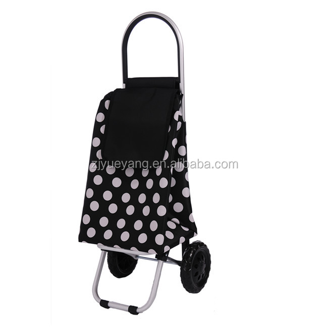 YY-26E04 folding shopping trolley bag folding trolley supermarket cart aluminum trolley