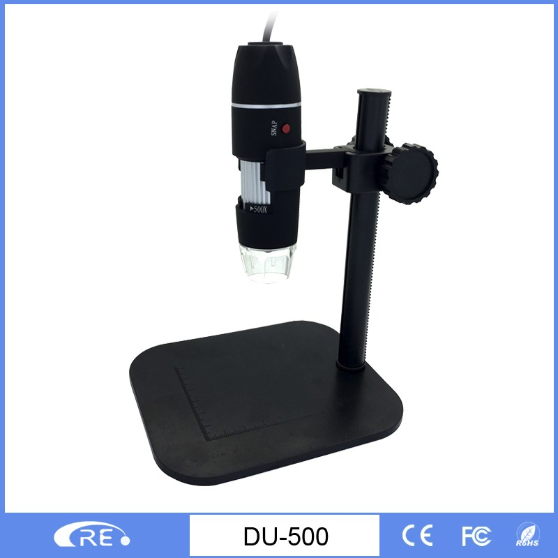 50-500 portable USB digital microscope,measure software contained