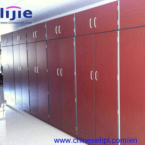LIJIE Different shape 1-18 door colorful compact/modern shoe cabinet/different size Compact laminate locker