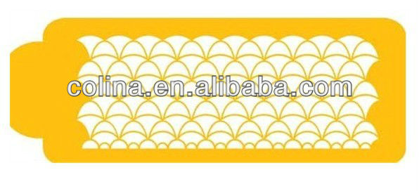 Art Deco Cake side Flexible cake decorate stencil