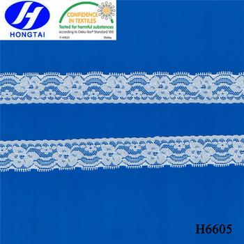 african lace fabrics/China sunflower underwear elastic lace trim