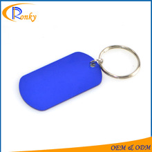 Cheap new innovative gifts blank keyring custom metal jewelry tags