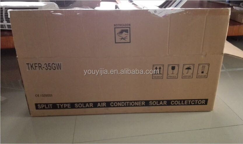 9000Btu Split wall mounted Vacuum tube solar cooler energy air conditioner system,solar AC ,solar AC conditioner