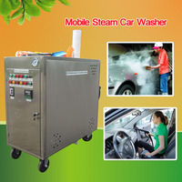CE 8 bar mobile steam car wash machine price/steam car washer with two gun/steam cleaning equipment swimming pool