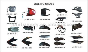 motorcycle plastic parts JIALING CROSS