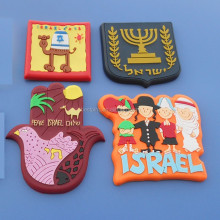 Israel tourist souvenir fridge magnets star of david decorations custom Israel star of David soft pvc 3d rubber Fridge magnets