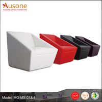 Colorful Modern Single Seat Leather Sofa