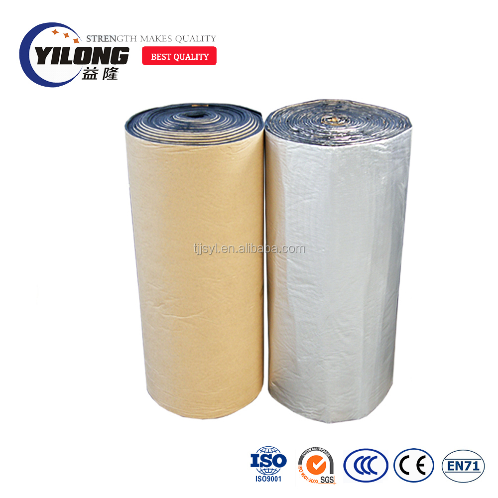 Cross linked flexible thermo acoustic campervan foil insulation backed adhesive