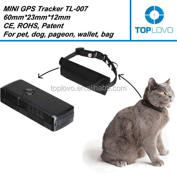 Factory mini pet gps tracker, gps pet tracker for small pet, the cheap gps tracker pet TL-007