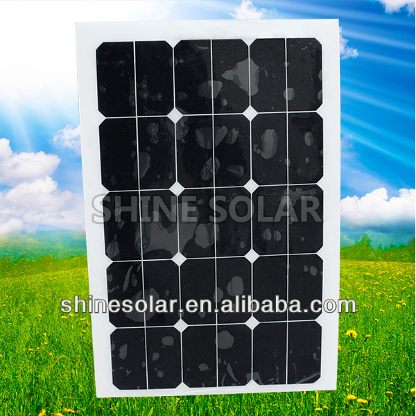 Boats yacht and caravan 12V Thin film amorphous silicon flexible solar panel