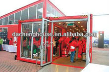 American style prefabricated sandwich panel container house for shop with ISO&B.V. certifacte