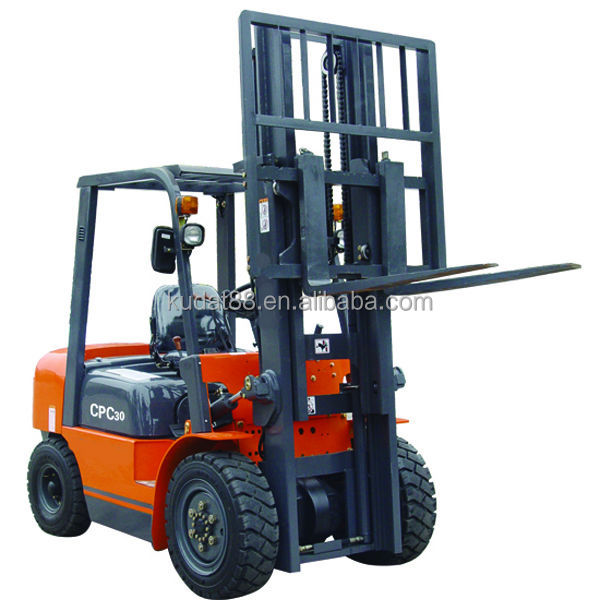 CPCD30 3tons forklift clamp attachments with Japan C240PKJ engine
