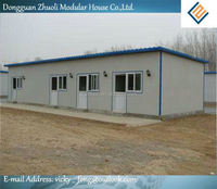 Luxury design flat roof prefab portable house with affordable price!
