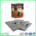 Durable hot sell liquid food laminated bib bag in box