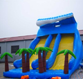 Hola inflatable slide/blue inflatable slide/giant inflatable water slide for adult