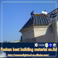 green building materials roof tile coating1320*420mm/green roof/color stone coated metal roofing tile