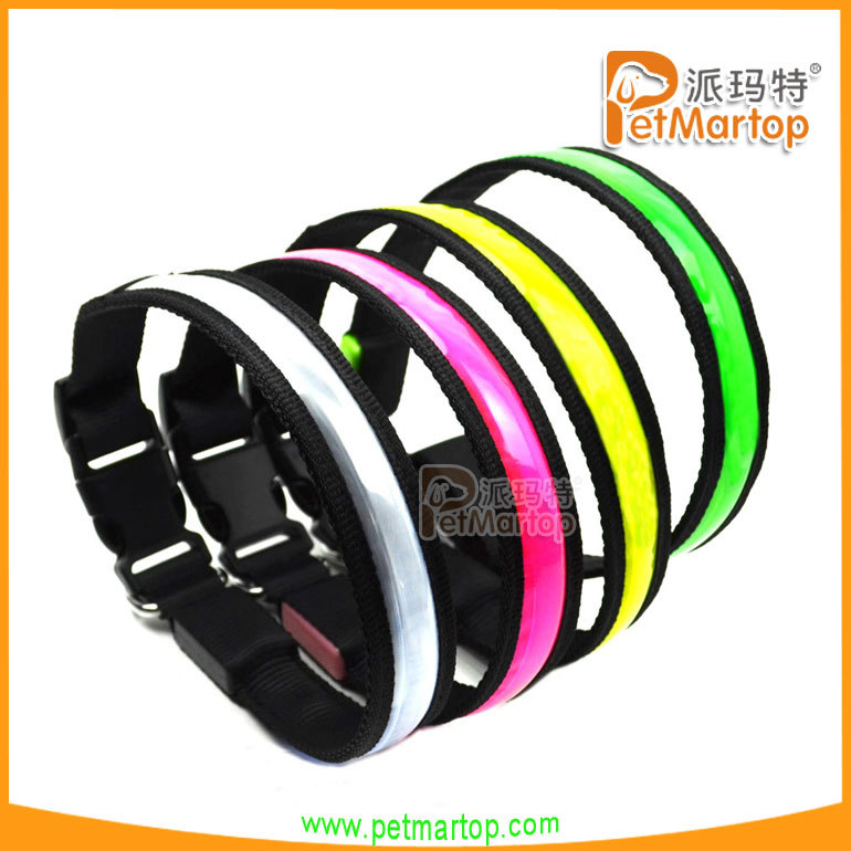 Led usb rechargeable flashing dog collars new pvc LED pet products for 2016 christmas