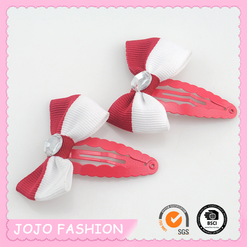 Latest Design Chinese Traditional Colorful Bowknot Hair Clip Accessories