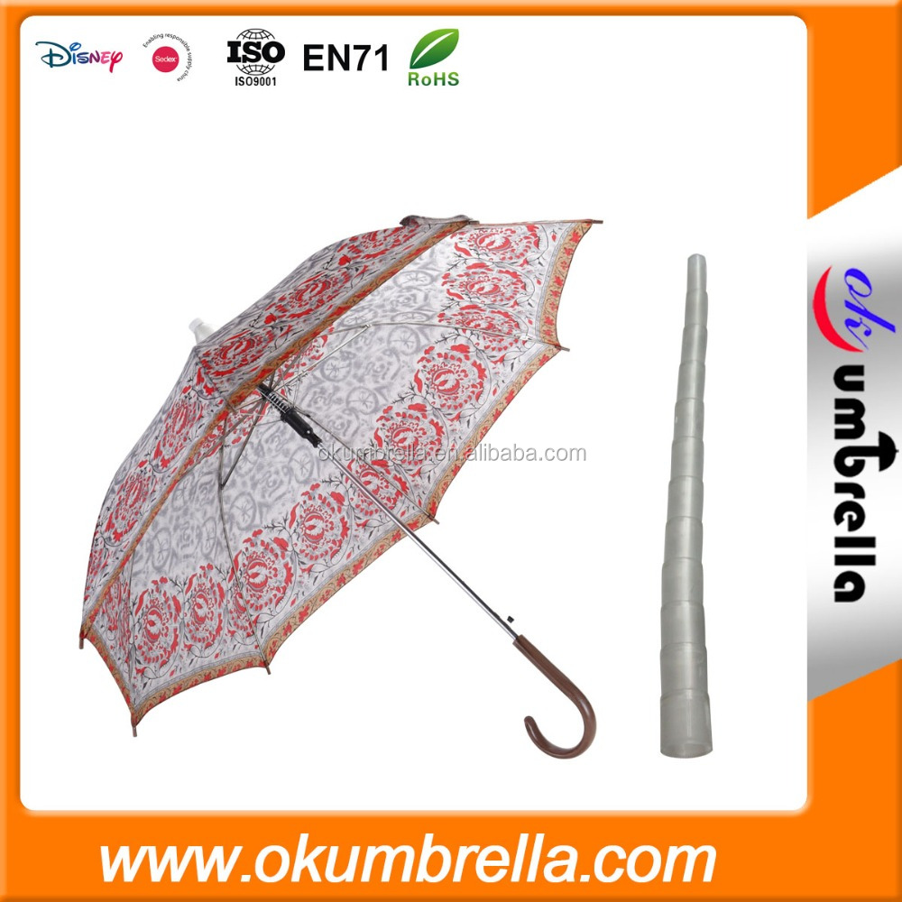travel umbrella, umbrella end cap, branded umbrella