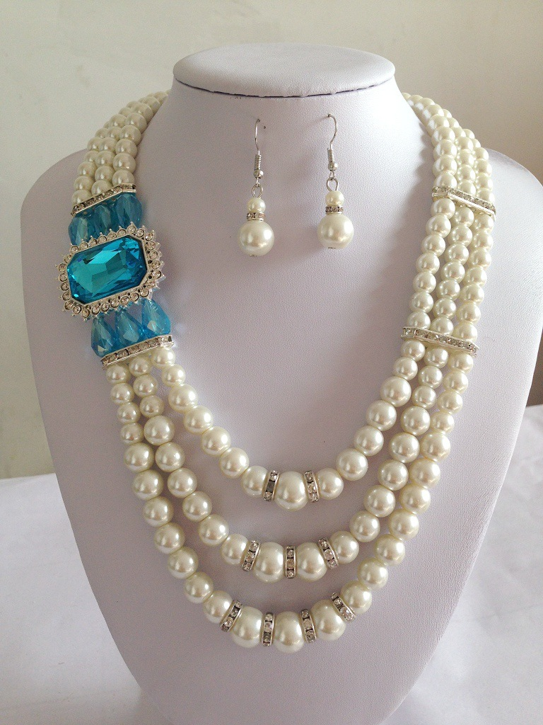 wholesale fashion artificial pearl jewelry set