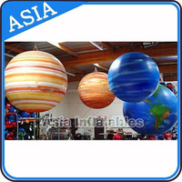 Inflatable Flying star balloon advertising/earth balloon toy balloon/electric balloon air pump for balloon