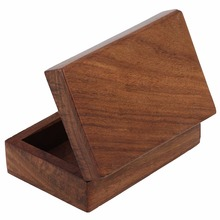 Wood Craft Box 3.5 Inch, Unfinished, Hinged Lid and Magnetic Closure
