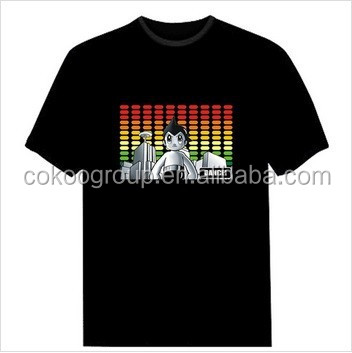 China Supplier Online Shopping prain led panel t-shirt for Christmas gifts/light t-shirt