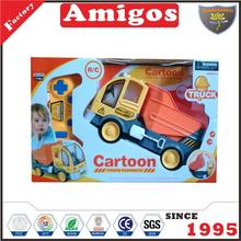 boy toy 6 channel RC dump truck with battery included radio control engineering vehicle from China