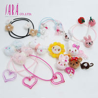 Various kinds of girls elastic hair balls made in Japan with ribbon