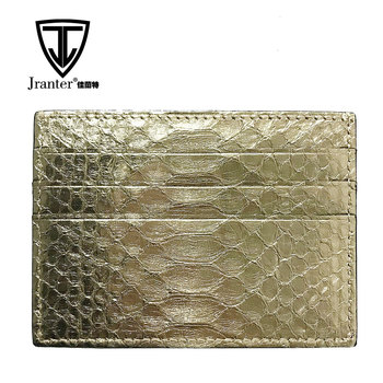 Custom 100% Python Leather Credit Card Holder Wallet Card Holder RFID Blocking