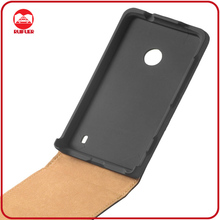 High Quality Real Genuine Flip Cell Phone Leather Case for Nokia Lumia 520