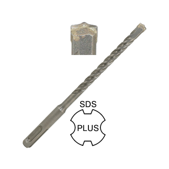 Carbide Centric Single Tip 4 Flutes SDS Plus Hammer Drill Bit for Concrete Hard Stone Marble Wall