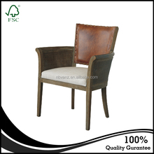 Online best price antique reproduction leather armchairs french furniture hotel dining chair