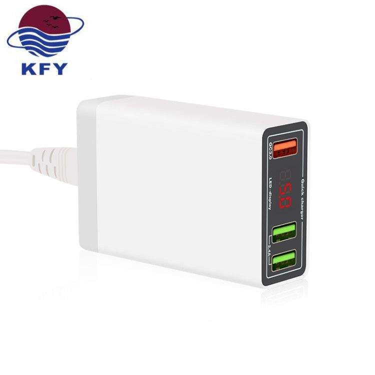 KFY Quick Charge 3.0 Multi Port USB Universal 12 24v Quick Car Charger With Led Display
