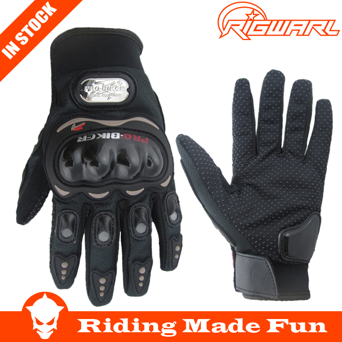 Hot Sale !! <strong>1</strong> Pair Black Sports Pro Biker Motorcycle Gloves Breathable Mesh Fabric Summer Gloves <strong>Leather</strong>