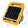Solar Powered Electric Fence Energizer Charger 0.5 Joules for Horse, Cattle, Sheep & Cow | IP55 Waterproof Animal Corral